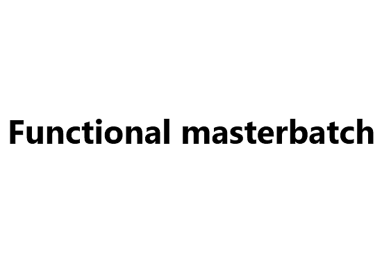 Functional masterbatch