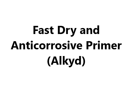 Anticorrosive Paint - Fast Dry and Anticorrosive Primer (Alkyd)