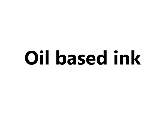 Oil based ink